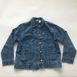 Vintage woman's  small denim jean jacket
